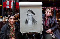 Caricaturists. Montmartre, Streets of Paris.