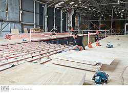 Construction of the Pacific Blue Festival Club, one of the venues in the New Zealand International Arts Festival in Wellington.