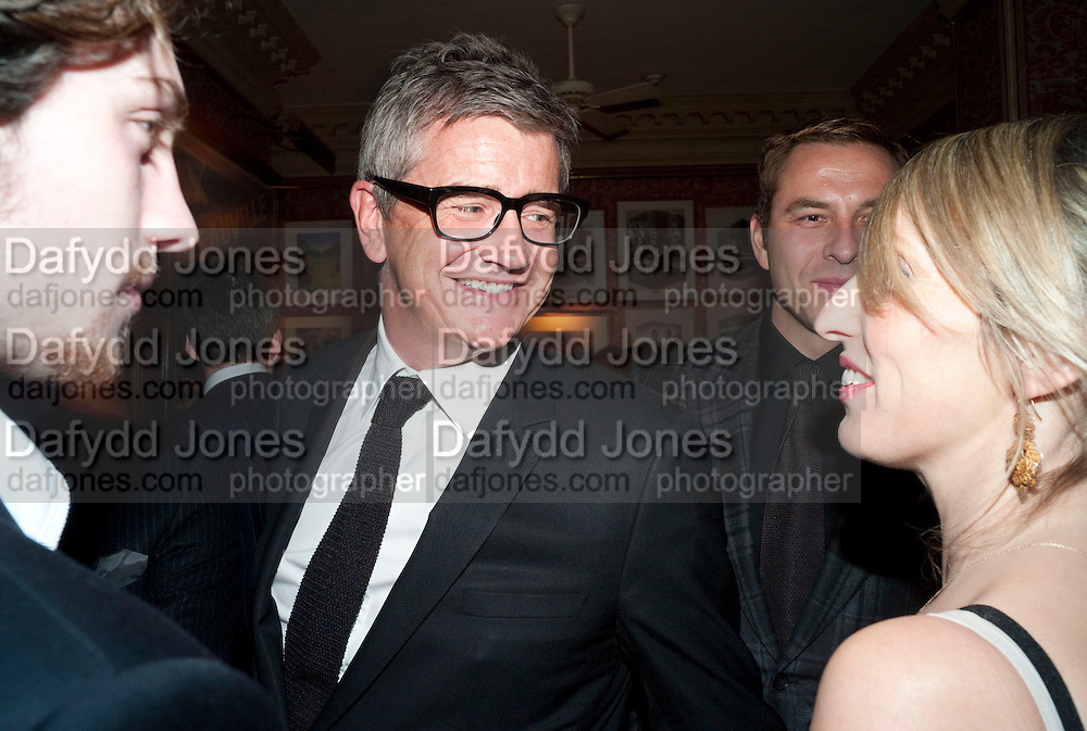 AAron Johnson; JAY JOPLING; SAM TAYLOR WOOD, Graydon Carter hosts a diner for Tom Ford to celebrate the London premiere of ' A Single Man' Harry's Bar. South Audley St. London. 1 February 2010