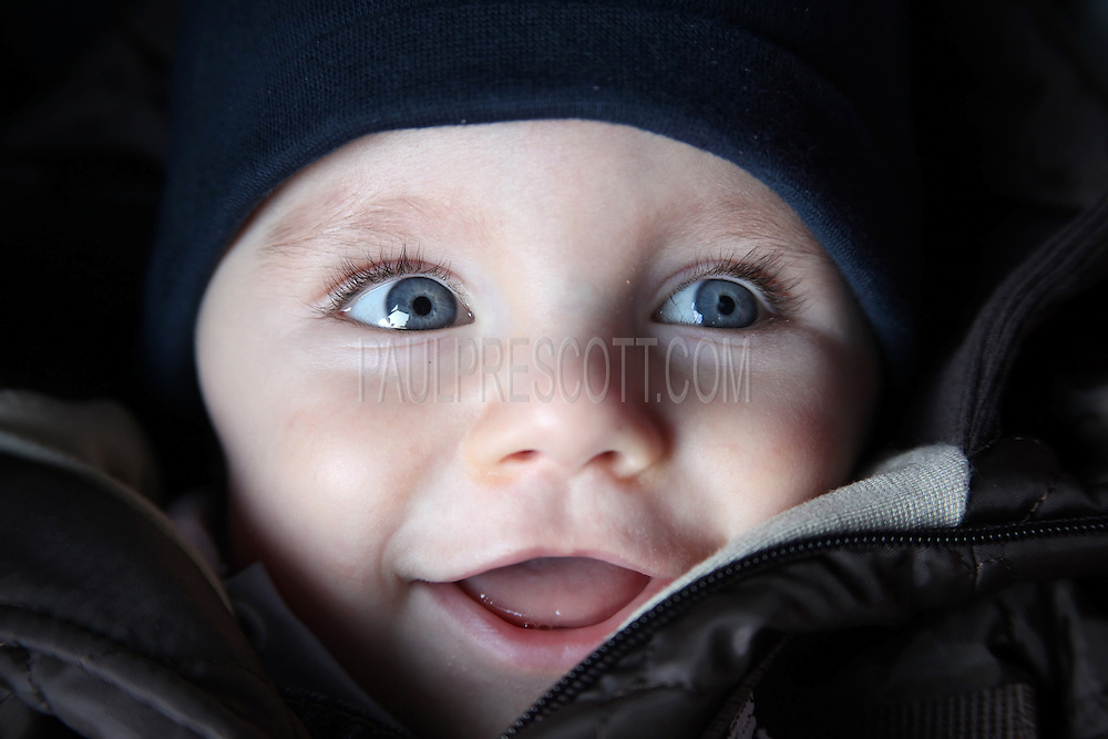 Big Eye Baby Baby With Big Blue Eyes