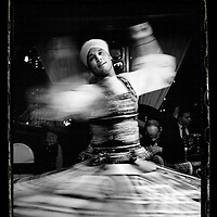 Cairo, Egypt  June 2008<br /> A whirling dervish performs his mysitic dance, since de beginning of times.<br /> Photo: Ezequiel Scagnetti