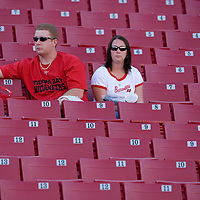04 november 2007: Two Buccaneers fans are seen at the end of the Tampa Bay Buccaneers 17-10 victory against the Arizona Cardinals at the Raymond James Stadium in Tampa, Florida, USA.