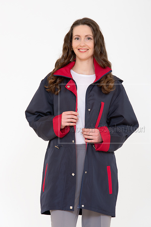 Checker Wind Coat With Hood. Photo credit: Stephen A'Court.  COPYRIGHT ©Stephen A'Court