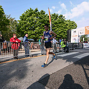 Matthew Herring (2006) of York, PA., finishes the 13th Annual Discover Bank Delaware Marathon Sunday, May 8, 2016, at Tubman Garrett Riverfront Park, in Wilmington Delaware.