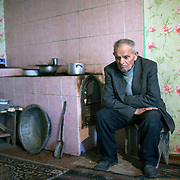 Lukas Pavlovitch sits at his home in Vulcanesti.