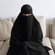 Arhus, Denmark, April 15, 2010. Sumayyah 31 years old, danish, converted to Islam in august 2007.