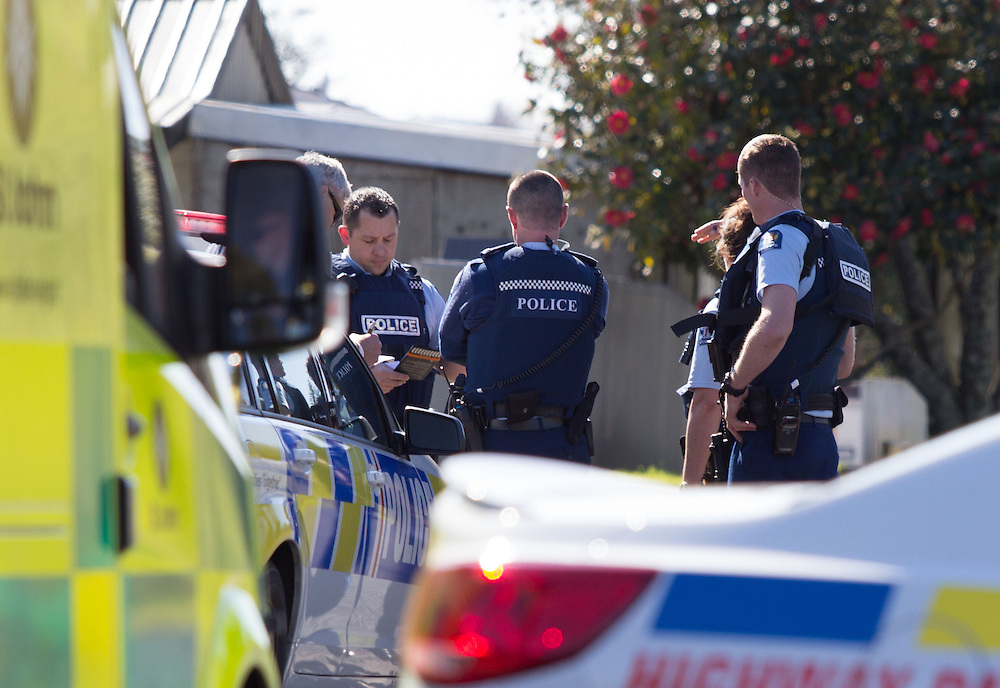 The AOS responded after a man was stabbed in Greerton to negotiate with the offender who remained in the house, Tauranga, New Zealand, Thursday, August 13, 2015. Credit:SNPA / Cameron Avery