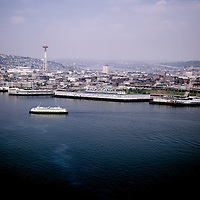 BI28,262-03...WASHINGTON - 1963 photograph of ferryboat Tillikum on Elliott Bay