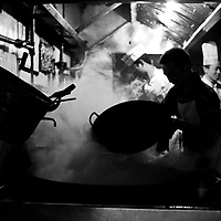 Working in steamy kitchen, Chengdu, Sichuan, China
