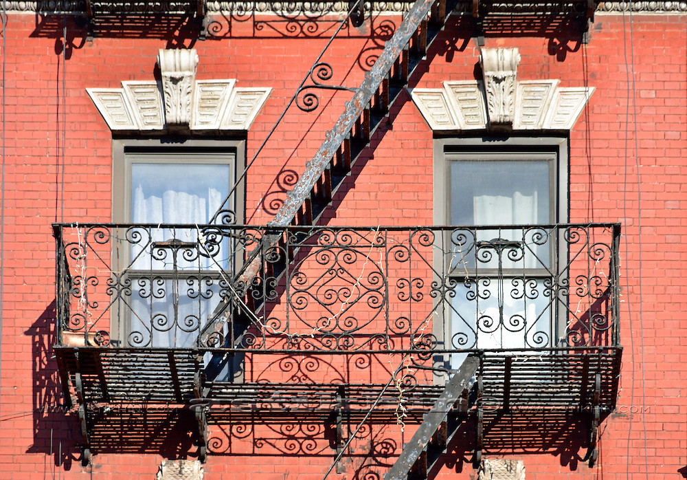 Fire Escape with Pattern.