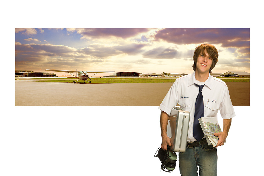 Portrait of a flight instructor