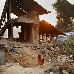 A destroyed home in Kagati village. Village elders say around 400 homes and 300 cow sheds were destroyed in the 2015 earthquakes. &ldquo;People still cry,&rdquo; said Charkraman Shreshta Balami, vice principal at the local school. <br />
