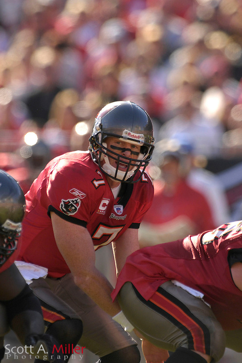 Dec. 23, 2007; Tampa, FL, USA; Tampa Bay Buccaneers quarterback Jeff Garcia (7) during the Bucs game against the Atlanta Falcons at Raymond James Stadium....©2007 Scott A. Miller