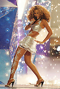 LOS ANGELES, CA - JUNE 27:  Sinver Beyonce Knowles performs onstage at the 2006 BET Awards at the Shrine Auditorium on June 27, 2006 in Los Angeles, California.  (Photo by Frank Micelotta/Getty Images)