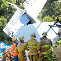 A single-engine Cessna crashed into a home at the corner of 21st Street and Navy Street after taking off from Santa Monica Airport on Monday, August 29, 2011. <br /> <br /> The house was unoccupied at the time of the crash, however, there were several workers painting it. The painters were able to pull the pilot from the wreckage. The pilot sustained a fractured leg and one of the painters was injured by debris. The pilot and painter were both transported to local hospitals and are in stable condition.<br /> <br /> The Federal Aviation Administration (FAA) &amp; the National Transportation Safety Board (NTSB) are handling the investigation.