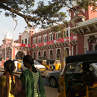Main Railway station. Chennai is the third largest commercial and industrial centre in India. It is considered to be the automobile capital of India, with a major percentage of the country?s automobile industry having a base in the city. Chennai is the second-largest exporter of IT services in India, behind Bangalore and is a base for the manufacture of hardware and electronics, with many multinational corporations setting up plants in its outskirts. The city faces problems with water shortages, traffic congestion and air pollution.