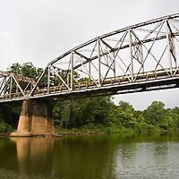 Bridge at FM 521 in the town of Brazoria over the Brazos River, Brazoria County, Texas.