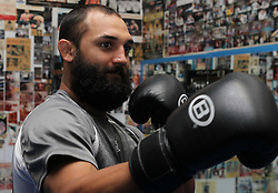 May 3, 2012; New York, NY; USA;  Johny Hendricks during the media workouts for UFC on FOX 3 at the Church Street Boxing Gym in New York, New York.