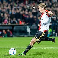 ROTTERDAM - Feyenoord - AZ , Voetbal , Seizoen 2015/2016 , Halve finales KNVB Beker , Stadion de Kuip , 03-03-2016 , Speler van Feyenoord Dirk Kuyt scoort de 3-1 uit een penalty