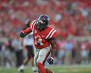 Mississippi linebacker Serderius Bryant (14) celebrates a tackle vs. Southeast Missouri State at Vaught-Hemingway Stadium in Oxford, Miss. on Saturday, September 7, 2013.