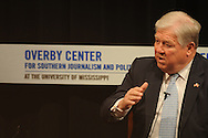 Mississippi Governor Haley Barbour answers questions at the Overby Center at The University of Mississippi in Oxford, Miss. on Tuesday, March 2, 2010.