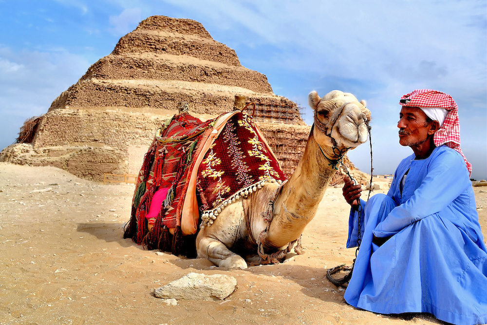 Camel and Egyptian Man...