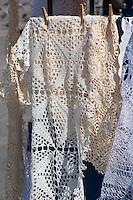 Lace and Crochet on sale in Rynek Glowny Krakow Poland