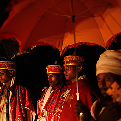 Priest Addisu Abebe, 23, and his new bride Destaye Amare, 11, are married in a traditional Ethiopian Orthodox wedding in the rural areas outside the city of Gondar, Ethiopia on Feb. 3, 2008. Since Abebe is a priest, it was necessary that he only marry a virgin.