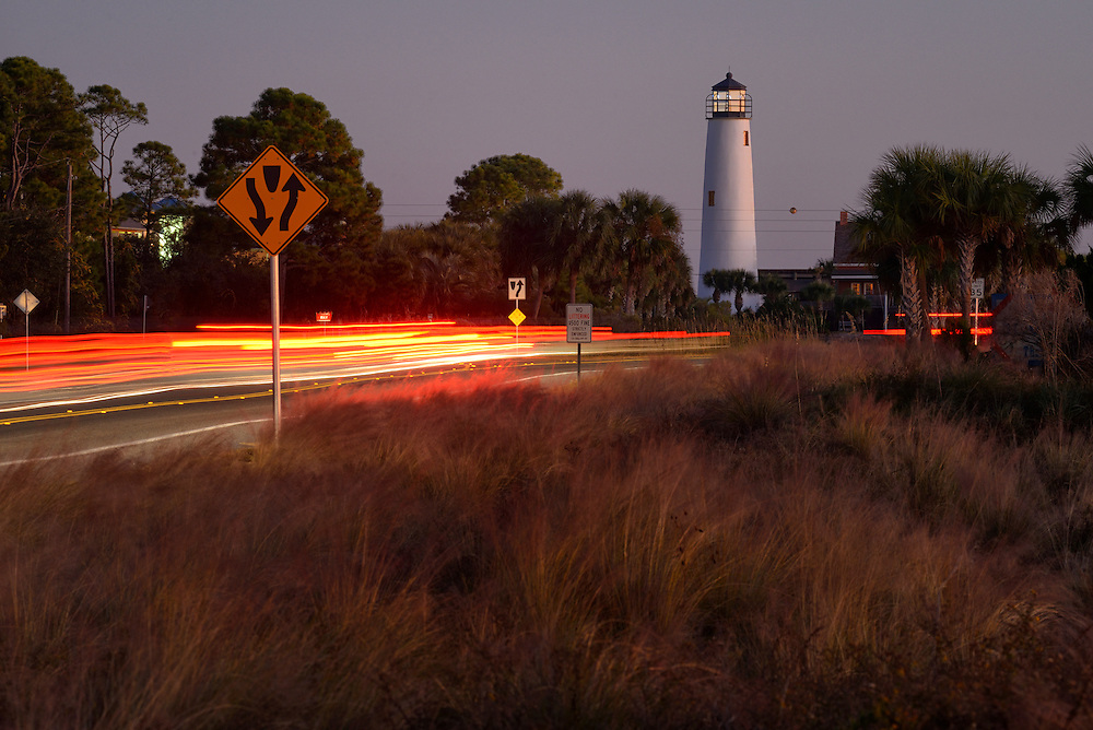 American Nightscapes  / Apalachicola<br /> <br /> Apalachicola, Lighthouse on St.George Island, USA, 2014