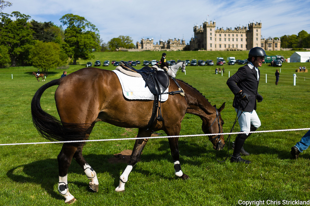 Floors Castle, Kelso, Roxburghshire, UK. 15th May 2015. Neil Wryan with Kilminchy Ronaldo of Ireland at Floors Castle International Horse Trials.