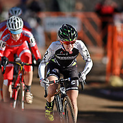 SHOT 1/12/14 2:36:50 PM - Kaitlin Antonneau (#2) of Colorado Springs, Co. competes in the Women's Elite race at the 2014 USA Cycling Cyclo-Cross National Championships at Valmont Bike Park in Boulder, Co.  (Photo by Marc Piscotty / © 2013)