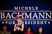 GOP Presidential candidate Rep. Michele Bachmann speaks at a town hall event in Muscatine, Iowa, July 24, 2011.