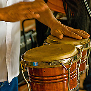 Bongo drums add a great sound to Old Havana, Habana Vieja, Cuba.