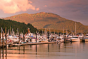 Alaska. Juneau. Auke Bay at sunset.