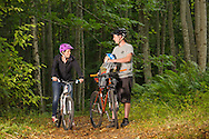 Family cycling, Monster Trails, Aberdeenshire and Moray Forest District, Forestry Commission Scotland