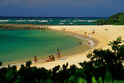 Image of a beach on the North Shore of Oahu, Hawaii, America West.