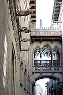 Spain. The old part of the city of Barcelona..Photos ©Steve Forrest