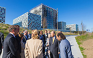 THE HAGUE - King Willem Alexander opens Tuesday April 19, 2016 officially the new complex of the International Criminal Court (ICC) in The Hague. The objective of the ICC is to help ensure that perpetrators of genocide, crimes against humanity and war crimes to escape prosecution dish. The ICC is an independent international organization and is not part of the organization of the United Nations. The ICC is recognized by 124 States Parties. The International Criminal Court has a unique role for victims: they are entitled to participate in processes and demands compensation. The King received by Sylvia Fernández de Gurmendi, president of the International Criminal Court (ICC) and Sidiki Kaba, President of the Assembly of States Parties (ASP). The opening will be attended by, among others Minister Koenders of Foreign Affairs Ban Ki-moon, Secretary-General of the United Nations (UNSG), F. Bensouda, Prosecutor of the International Criminal Court and B. Pace, president of the Coalition for the International Criminal Court (CICC). COPYRIGHT ROBIN UTRECHT/luka de kruijf  DEN HAAG - Koning Willem Alexander opent dinsdagmiddag 19 april 2016 officieel het nieuwe complex van het International Criminal Court (ICC) in Den Haag. De doelstelling van het ICC is te helpen voorkomen dat plegers van genocide, misdrijven tegen de menselijkheid en oorlogsmisdrijven aan gerechtsvervolging ontsnappen. Het ICC is een onafhankelijke internationale organisatie en maakt geen deel uit van de organisatie van de Verenigde Naties. Het ICC wordt erkend door 124 verdragspartijen. Het internationaal strafhof kent een unieke rol voor slachtoffers: zij hebben recht om deel te nemen in processen en schadevergoedingen te eisen. De Koning wordt ontvangen door Sylvia Fernández de Gurmendi, president van het Internationaal Strafhof (ICC) en Sidiki Kaba, president van de Vergadering van Verdragspartijen (ASP). De opening wordt bijgewoond door onder andere minister Koenders van Buitenlandse Zaken, Ban Ki-mo