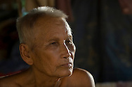 Saloth Nhep, brother of Khmer Rouge leader Pot Pot, at his home Kompong Thom, Cambodia.  He died February 4, 2010.