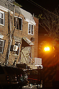 A Propane fueled explosion rocked a Queens neighborhood, leaving  three families shocked and displaced, and at least three houses severely damaged and condemned by the FDNY and NYC Dept. if Buildings.  Sixteen Adults and two children, in this mostly quiet middle-class neighborhood, were tended by Red Cross , family and friends. Explosion is under Further investigation