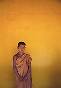 Yellow wall and monk. One of my early 'better' colour pictures.