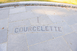 Canadian War Memorial in Courcelette France...Courcelette was a major tactical objective in the Battle of Flers-Courcelette during the Somme Offensive of the First World War during which the village was razed to the ground. The village was assigned as the major objective of the Canadian Corps during that battle and they succeeded in capturing the village. Accordingly, the actions and sacrifices of the Canadians are commemorated at the Courcelette Memorial which sit sits just south of the village beside the D929 roadway.