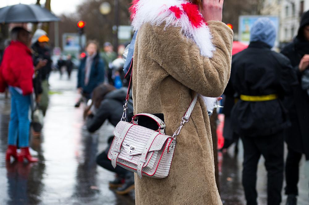 Proenza Schouler Bag on Ina Maribo Jensen at Balenciaga FW2017