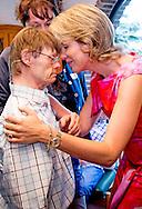 15-9-2016 Louvain-La-Neuve - Queen Matilde visits Horizons Neuf. The organization is dedicated 50 years to the care of the mentally handicapped and is spread across several locations in Louvain-La-Neuve. The Queen is introduced to clients of the center.<br /> COPYRIGHT ROBIN UTRECHT<br /> 15-9-2016 Louvain-La-Neuve - Koningin Matilde  bezoekt Horizons Neuf. De organisatie zet zich sinds 50 jaar in voor de zorg aan mentaal gehandicapten en is verspreid over verschillende locaties in Louvain-La-Neuve. De Koningin maakt kennis met cli&euml;nten van het centrum. <br /> COPYRIGHT ROBIN UTRECHT