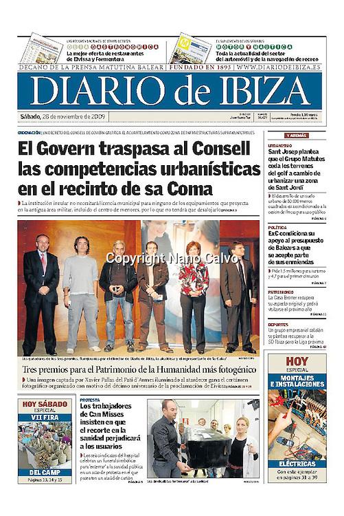 Cover - Diario de Ibiza <br /> 2nd Prize X Anniversary Ibiza World Heritage