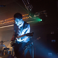 Igor Haefeli of the British band Daughter performs at the Glasgow School of Art on the 16th November, 2015. Glasgow, Scotland.