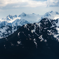 Closeup of Mount Olympus - Olympic Mountains - Olympic National Park, WA
