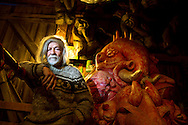 Peter Schumann,  founder and director of the Bread &amp; Puppet theater, sits in the  Bread and Puppet Museum on November 11, 2014 in Glover, Vermont. Schumann, an artist, activist and bread baker, lives and works in northern Vermont.<br />