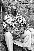 IPLM0018 , South Africa, Venda, June 2001. King Kennedy Tshivase,  paramount chief of one of the two main Venda clans.