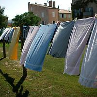 20110911 - Saint Tropez,  - Laundry hangs in a public wash area in Saint Tropez, France.  Photo by Matthew Healey